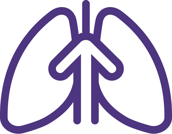 Lungs and Arrow Icon.